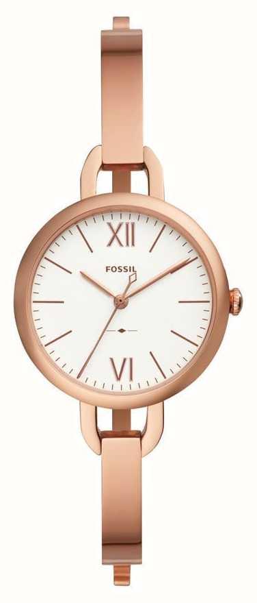 e80fad1f871 Fossil Womens Annette Rosa Ouro Pulseira Relógio ES4391 - First ...