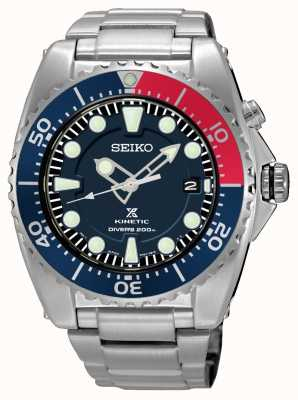 Seiko Prospex kinetic 200m data do mergulhador SKA759P1