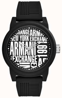 Armani Exchange Cinta de silicone para homem AX1443