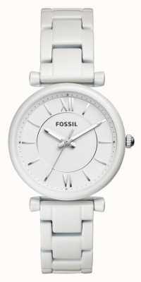 Fossil Bracelete de aço inoxidável carlie para mulher ES4401