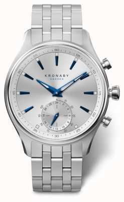 Kronaby Pulseira de aço inoxidável sek dial prata 41 milímetros A1000-3121