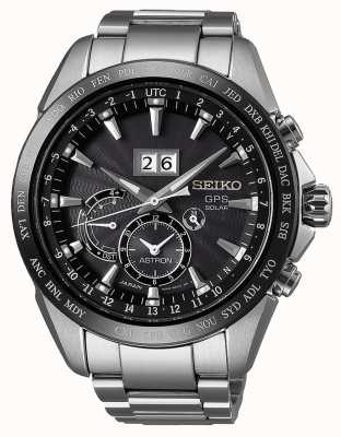 Seiko Astron steel data display gps solar SSE149J1