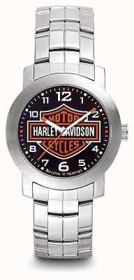 Harley Davidson Logotipo dos homens imprimir pulseira de aço inoxidável de discagem 76A019
