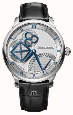 Maurice Lacroix Relógio automático retrograde da roda quadrada da obra-prima MP6058-SS001-110-1
