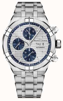 Maurice Lacroix Aikon cronógrafo relógio de movimento de fabricação automática AI6038-SS002-131-1