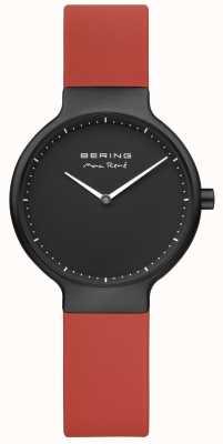 Bering Max rené cinta vermelha preta ip banhado caso e discar 15531-523