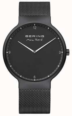 Bering Max rené preto mostrador branco marcadores preto ip plated malha cinta 15540-123