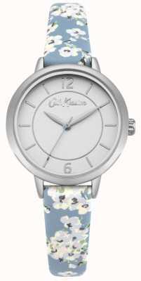 Cath Kidston Cinta de couro estampa floral das mulheres de prata de aço inoxidável CKL046US