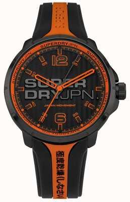 Superdry Correia de silicone laranja e preta kyoto para homem SYG216BO