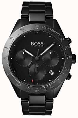 Hugo Boss Mens talento mostrador preto data mostrador preto ip pulseira 1513581