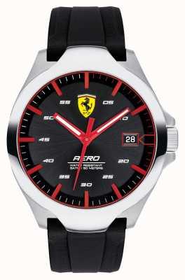 Scuderia Ferrari Aero data masculino exibir pulseira de silicone mostrador preto 0830506