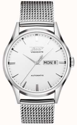 Tissot Relógio de aço inoxidável automático do visodate da herança T0194301103100