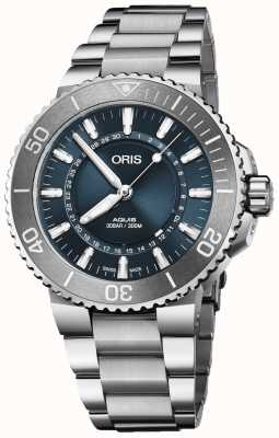 Oris Fonte de vida homens aquis limited edition blue dial metal 01 733 7730 4125-SET MB