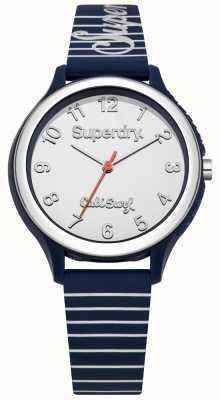 Superdry Bracelete de silicone azul Sapporo surf SYL153U