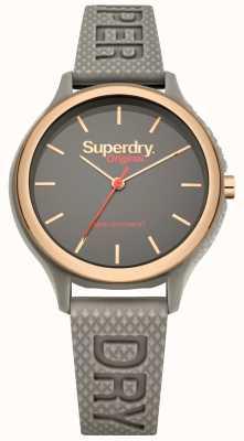 Superdry Bracelete de silicone cinza Sapporo fluoro pop SYL151ERG
