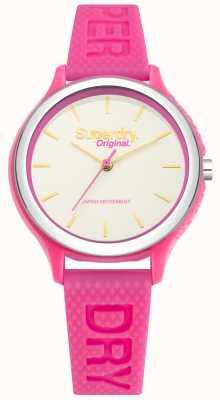 Superdry Sapporo fluoro pop rosa pulseira de silicone SYL151P