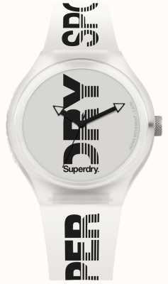 Superdry Bracelete de silicone branco urbano xl sport SYG189W