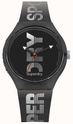 Superdry Urban xl sport pulseira de silicone preta SYG189B