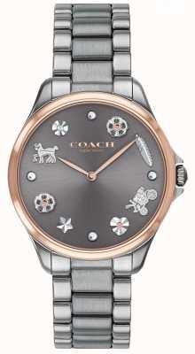 Coach Modern esporte cinza dial gunmetal ip aço inoxidável 14503064