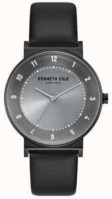 Kenneth Cole Estojo de bronze feminino com bracelete de couro preto KC50074001