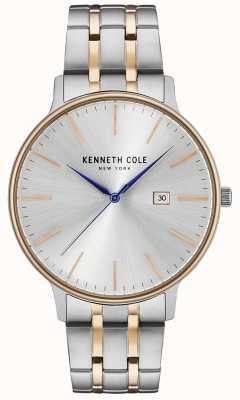Kenneth Cole Relógio de aço inoxidável em prata e ouro rosa KC15095003