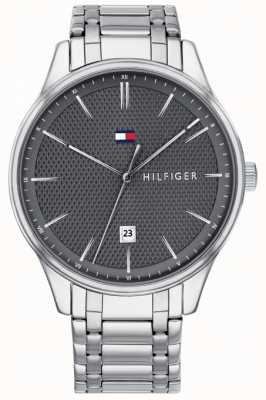 Tommy Hilfiger Damon cinza mostrador do relógio de aço inoxidável dos homens 1791490