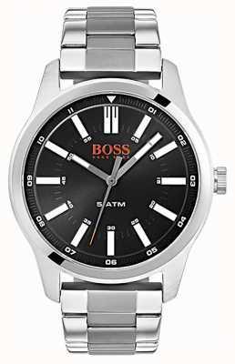 Hugo Boss Orange Mens dublin black dial relógio pulseira de aço inoxidável 1550069