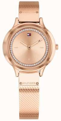 Tommy Hilfiger Olivia feminino rosa banhado a ouro relógio 1781911