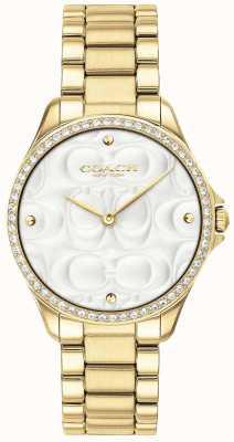 Coach Relógio de desporto moderno para mulher em ouro 14503071