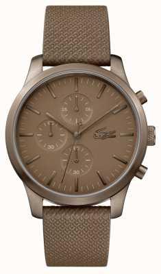 Lacoste Mens 12.12 85º aniversário caqui relógio 2010949