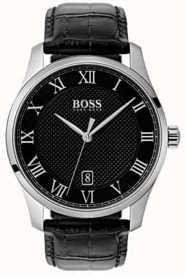 BOSS Mestre mostrador preto | pulseira de couro preto 1513585