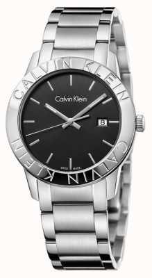 Calvin Klein Mostrador preto em aço inoxidável K7Q21141