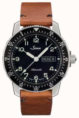 Sinn 104 st sa um clássico piloto assistir luz marrom vintage couro 104.011-BL50205002401A