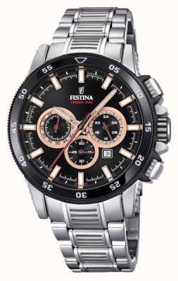Festina 2018 pulseira de aço inoxidável relógio cronobike F20352/5