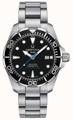 Certina Mens ds action divers powermatic 80 conservação de tartarugas marinhas C0324071105110