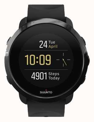 Suunto 3 fitness toda a pulseira de borracha preta SS050020000