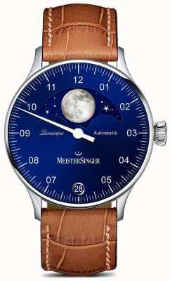 MeisterSinger Pangea lunascope marrom cinta azul discagem LS908