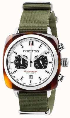 Briston Seletor branco da selva do esporte do Clubmaster 17142.SA.TS.2.NGA