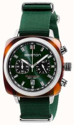 Briston Clubmaster sport icons pulseira verde 17142.SA.TS.10.NBG