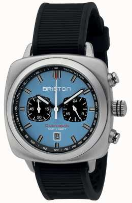 Briston Clubmaster esporte borracha preta luz azul matt dial 16142.S.SP.18.RB