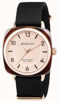 Briston Dial de discagem clubmaster chique preto pulseira de ouro 18536.PRA.T.6.NB