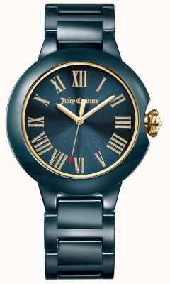 Juicy Couture Relógio cerâmico burbank preto para mulher 1901653