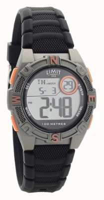 Limit Mens pulseira de borracha preta relógio analógico / digital 5695.71