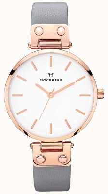 Mockberg Relógio de couro cinzento escuro alicia para mulher MO118