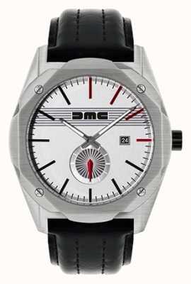 DeLorean Motor Company Watches O sonho clássico pulseira de couro preto mostrador prateado DMC-6