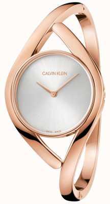 Calvin Klein Senhoras festa rosa ouro relógio de aço inoxidável K8U2M616
