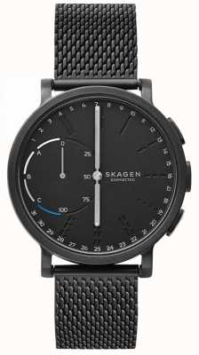 Skagen Hagen conectado relógio inteligente preto malha pulseira mostrador preto SKT1109