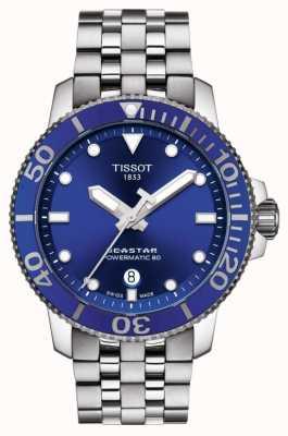 Tissot Seastar 1000 powermatic 80 blue dial aço inoxidável T1204071104100