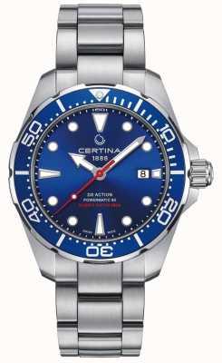 Certina Mens certina ds mergulhador de ação powermatic 80 relógio automático C0324071104100
