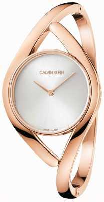 Calvin Klein Pulseira de aço inoxidável rosa e prateada K8U2S616
